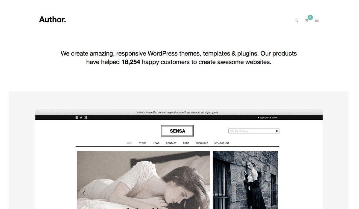 wordpress author theme
