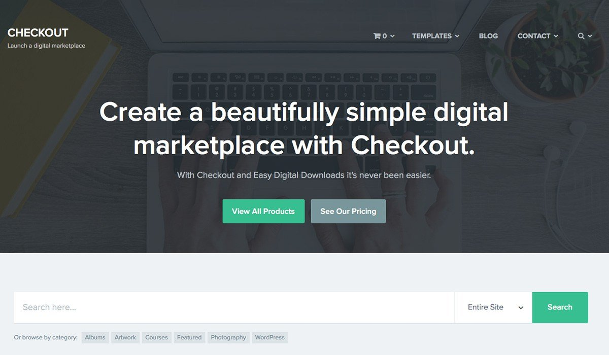 wordpress checkout theme