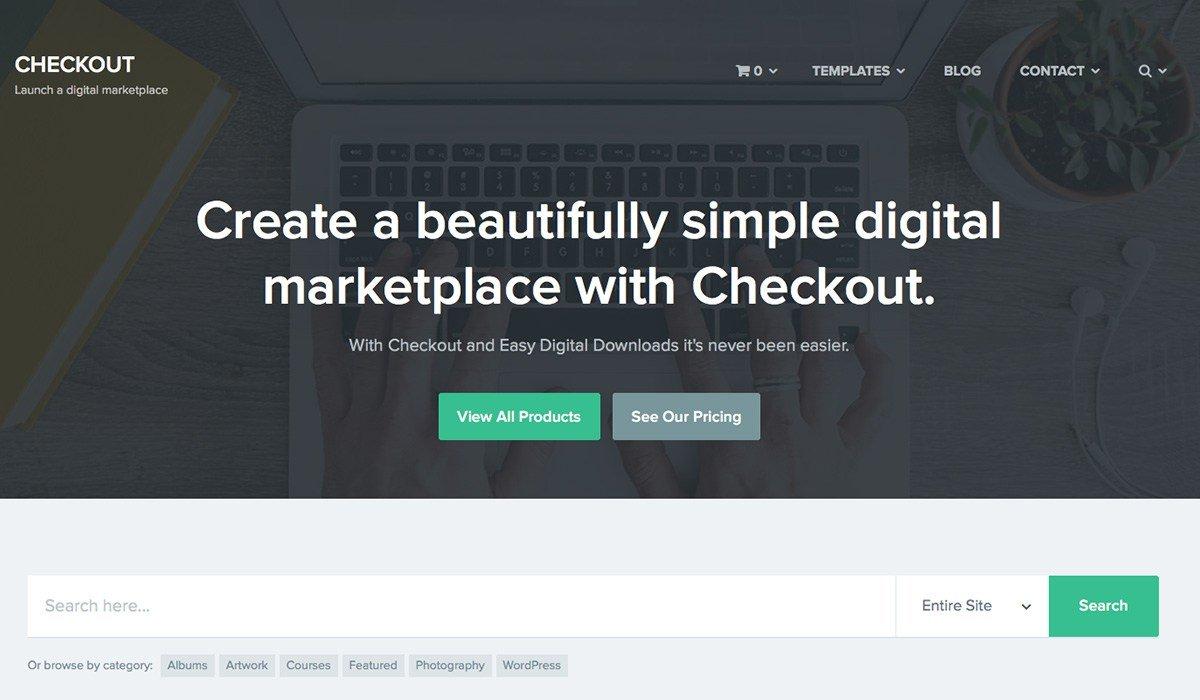 wordpress checkout theme