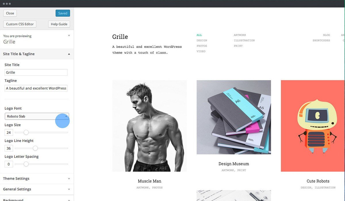 grille wp theme