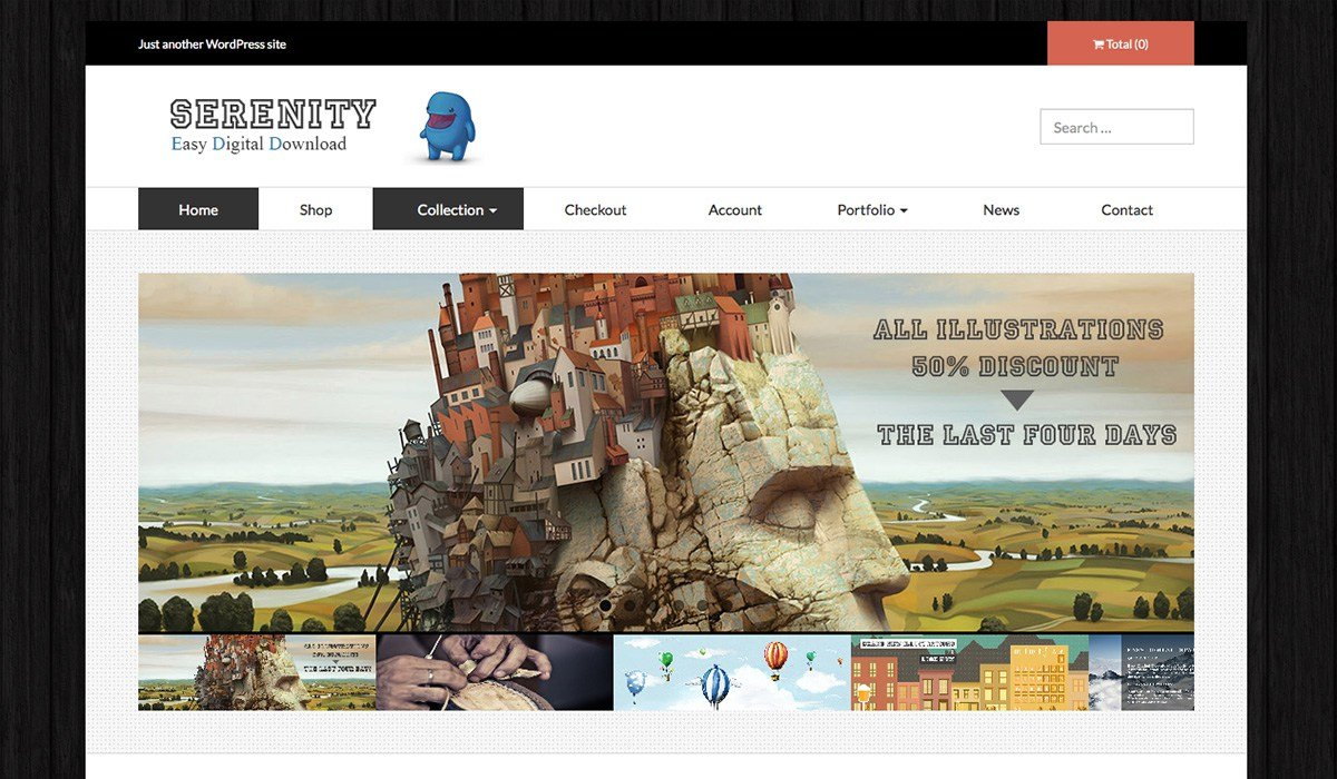 serenityshop wp theme