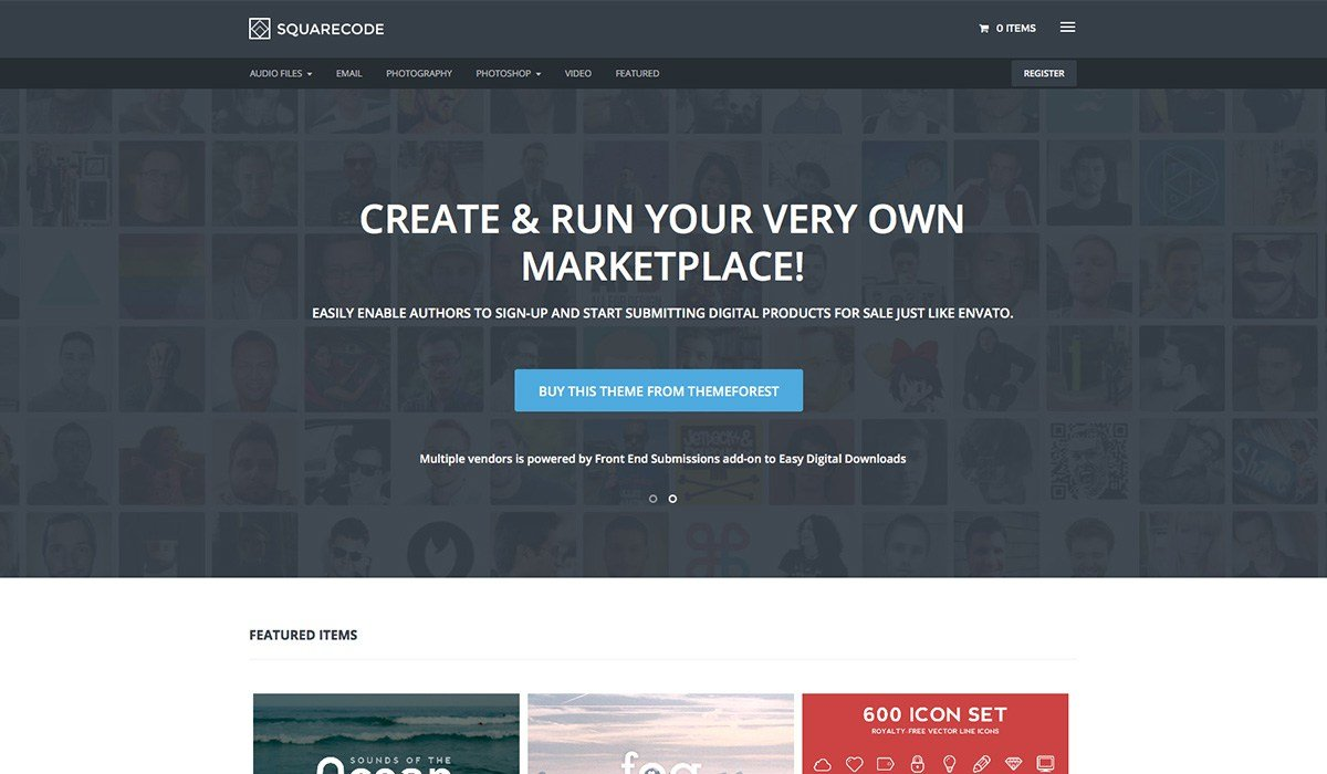 squarecode wordpress theme