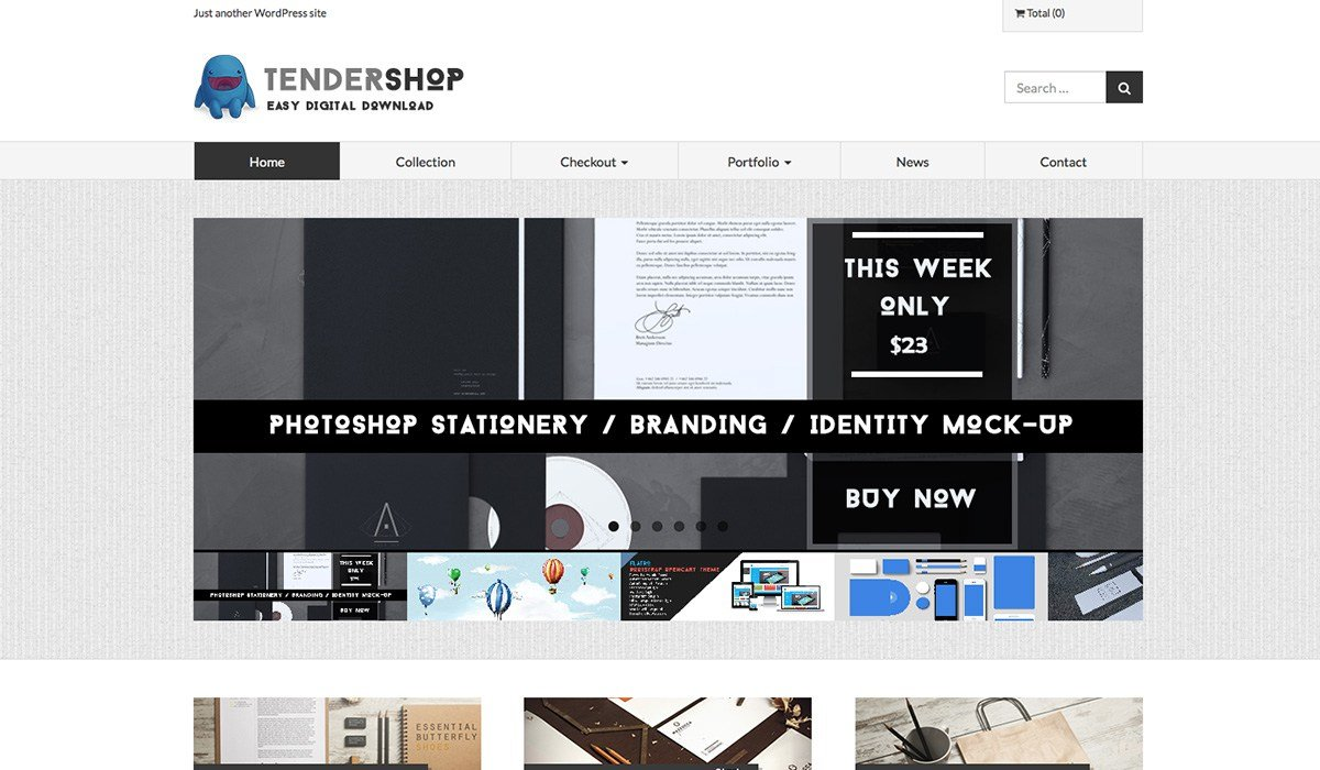 tendershop wp theme