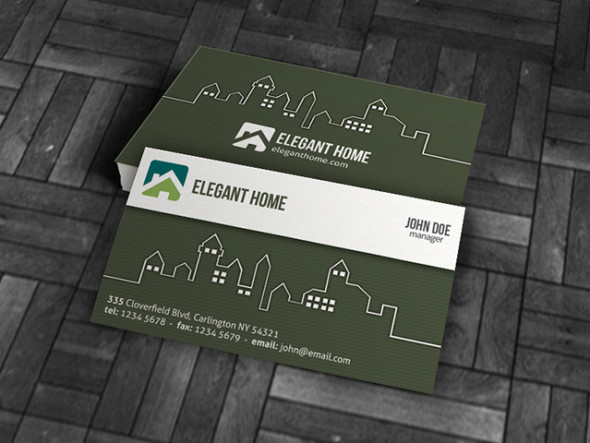 15 outstanding free real estate business card templates show wp modern reheart Gallery