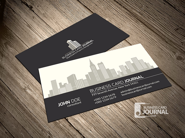 15 outstanding free real estate business card templates for Real estate business cards templates free