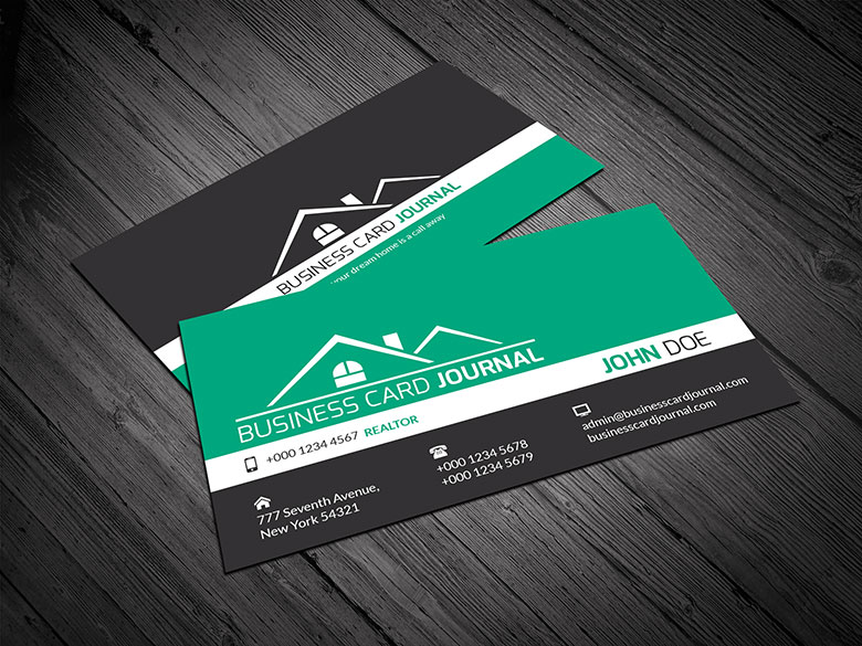 Real estate business card template template for free download on.