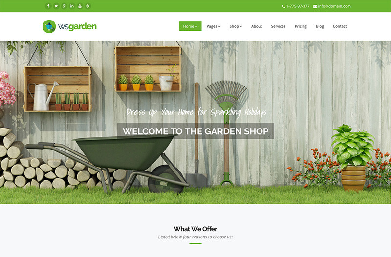 wordpress garden theme