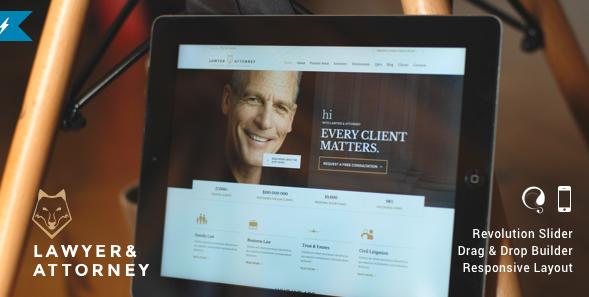 30+ Responsive Attorney, Lawyer WordPress Themes - Show WP