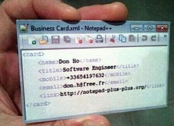 comic business card