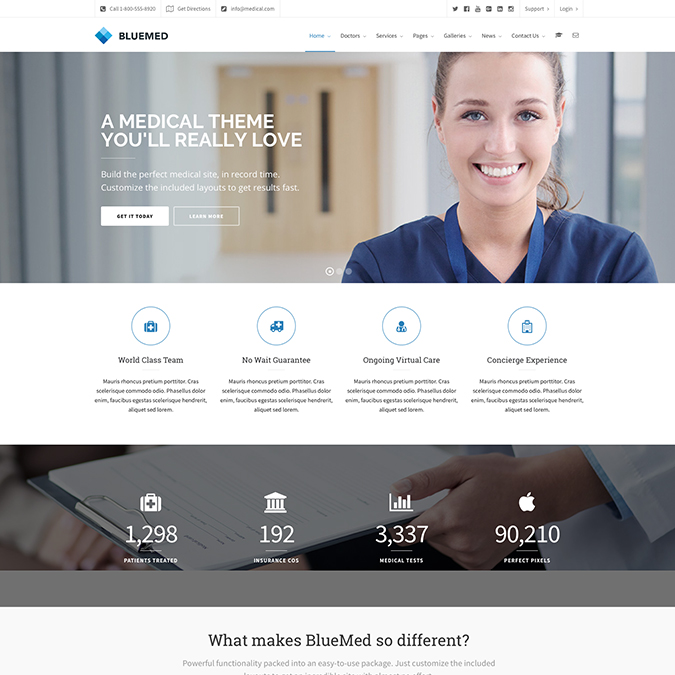 bluemed wordpress theme
