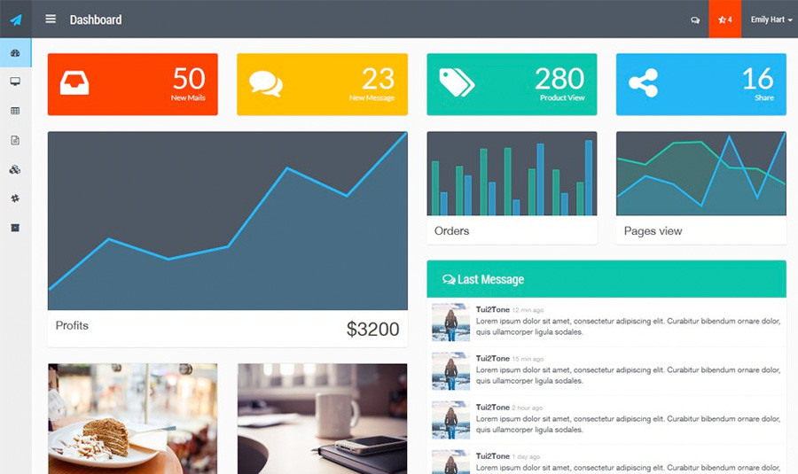15 Best Free Bootstrap Admin Templates of All Time! - Show WP
