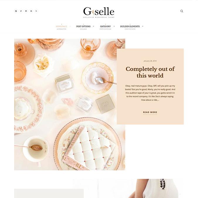 giselle wordpress theme