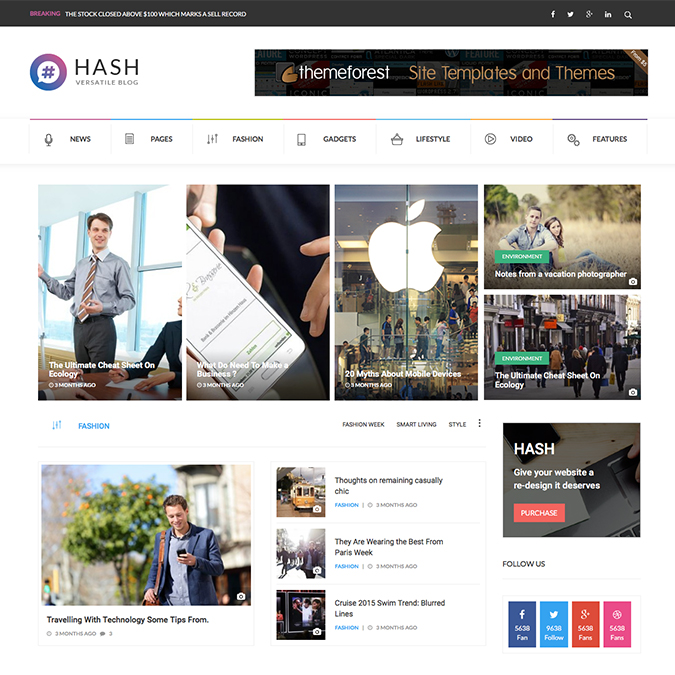 hash wordpress theme