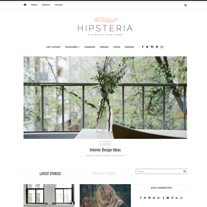 hipsteria wordpress theme