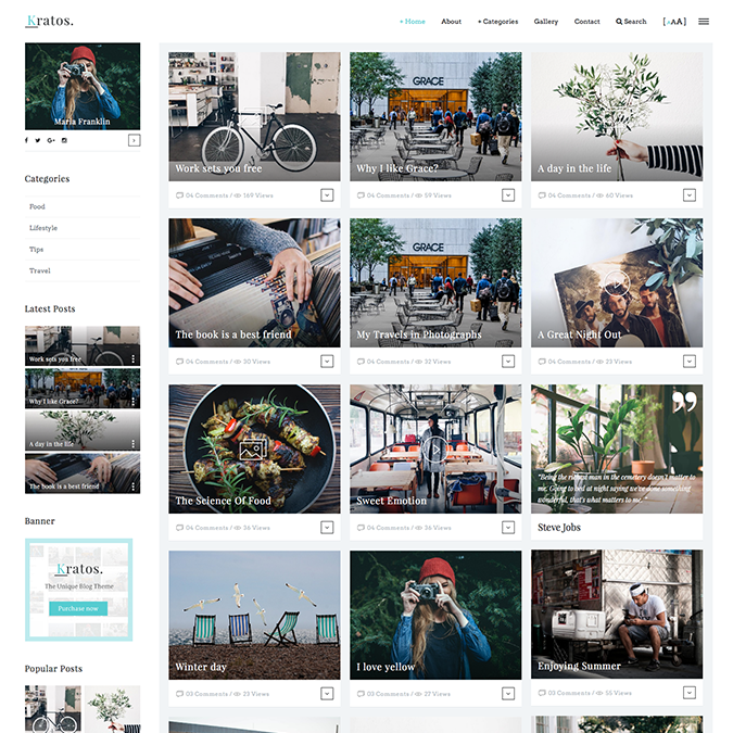 kratos wordpress theme