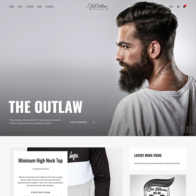 outlaw wordpress theme