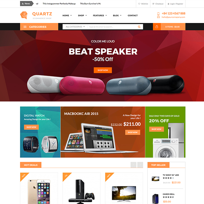 quartz wordpress theme