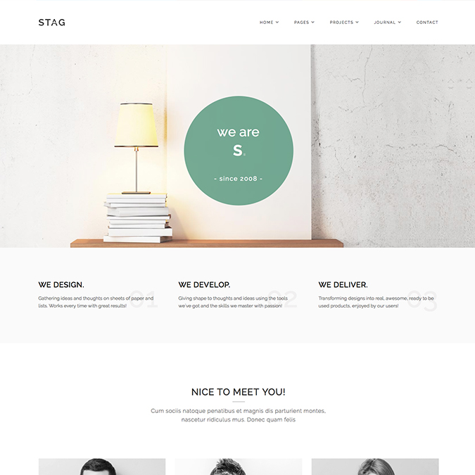 stag wordpress theme