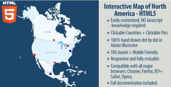 20 powerful html5 interactive world map examples show wp interactive map of north america gumiabroncs Gallery