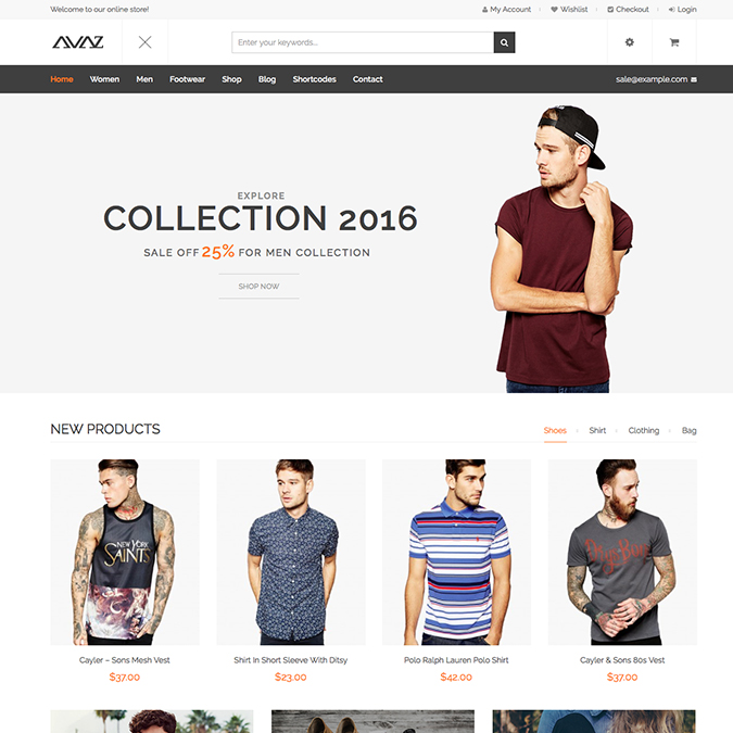 Avaz Ecommerce WordPress Theme