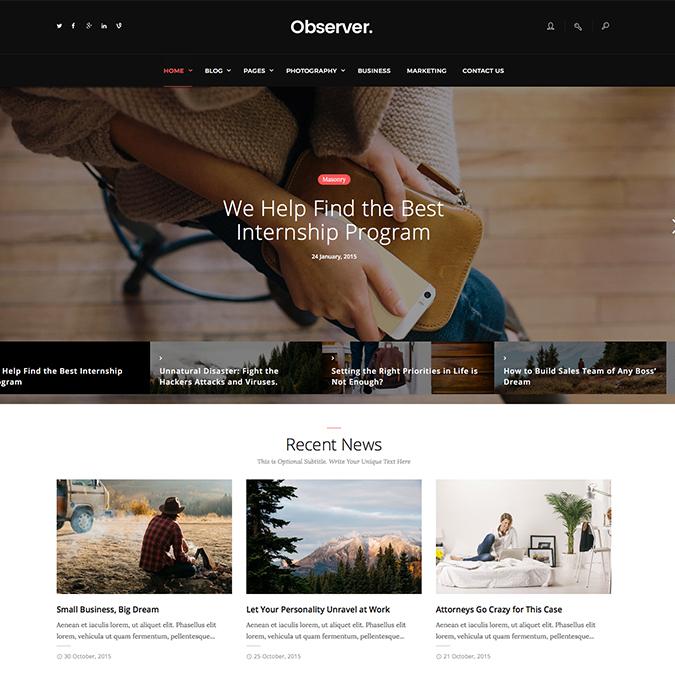 dailyobserver wordpress theme