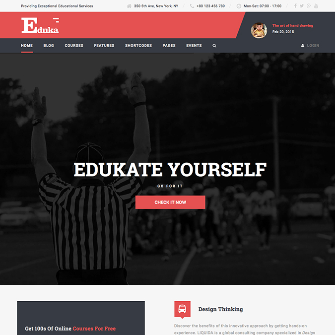 eduka wordpress theme