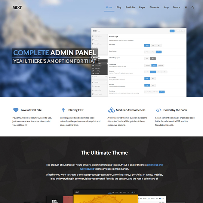 mixt wordpress theme