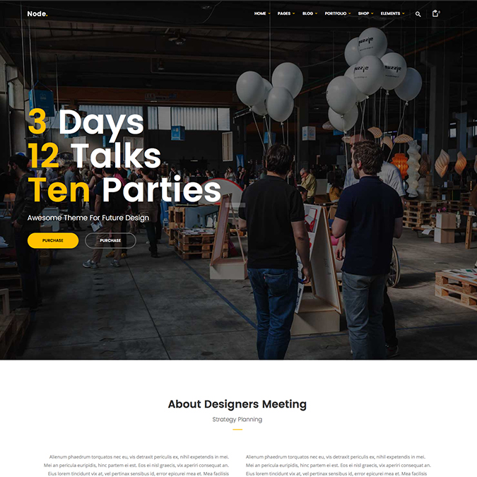 node wordpress theme