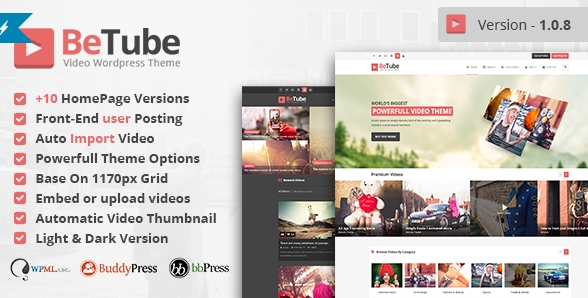 25+ Video WordPress Themes like Youtube Portal - Show WP
