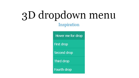3D dropdown menu