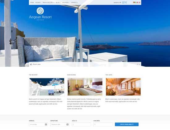 Aegean Resort – Responsive Hotel Template