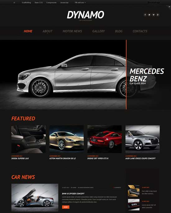 Car News Responsive Website Template
