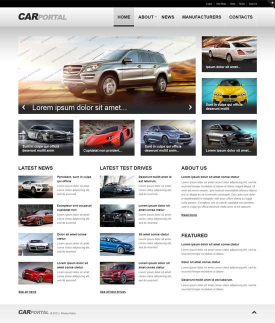 Car Portal Website Template