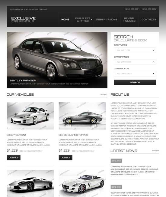 Car Rental Responsive Website Template