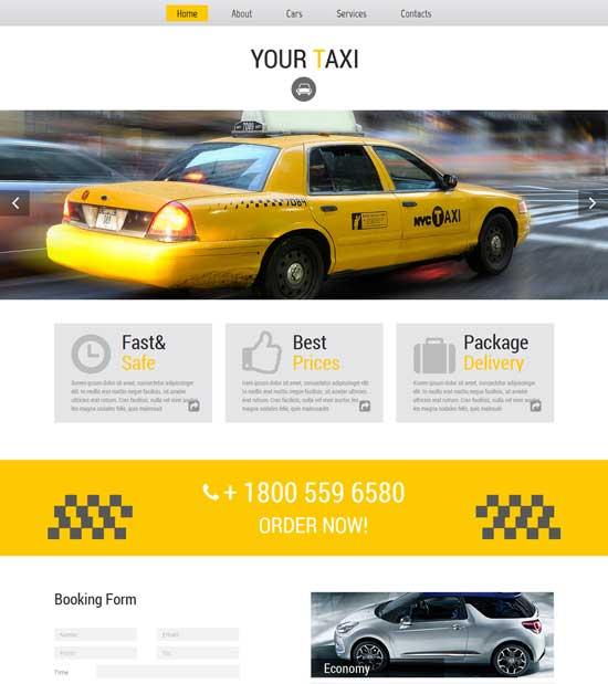 Free HTML5 Taxi Company Template