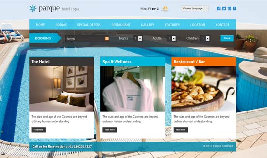 Parque – Hotel/Resort Responsive HTML template