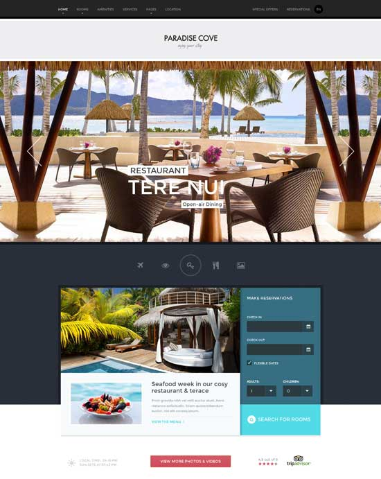 Paradise Cove – Hotel HTML template
