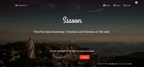 Bootstrap Coming Soon Page