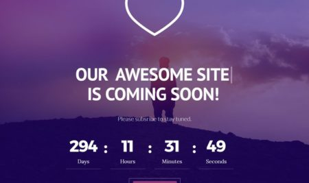 30+ Free HTML5 Coming Soon Templates, Website Under Construction