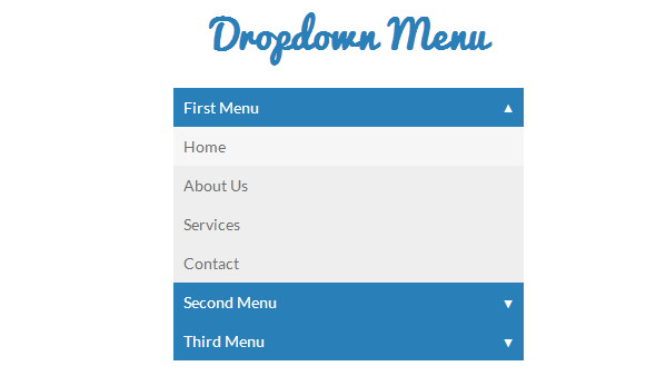 CSS3/Javascript Pure Dropdown Menu