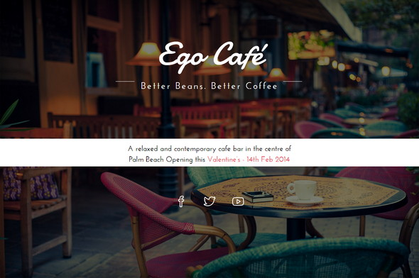 Free Coming Soon Template: Ego Cafe
