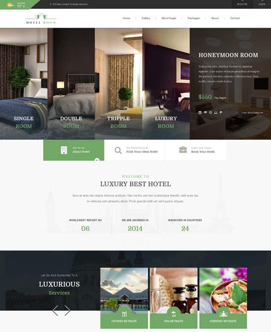 Hotel Room- Minimalist Hotel HTML Template
