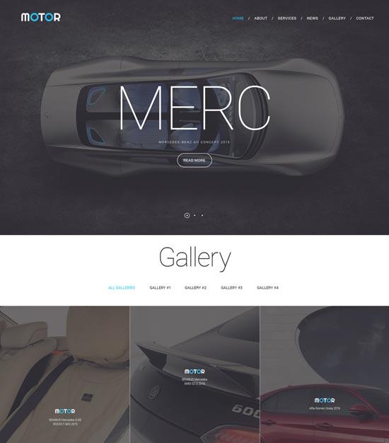 Motor Website Template 57792