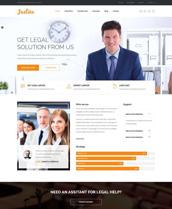 JUSTICE – Law & Business WordPress Theme