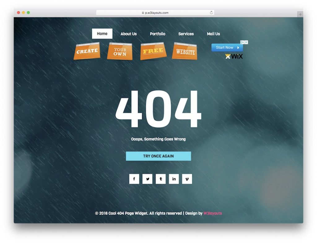 Cool 404 Page