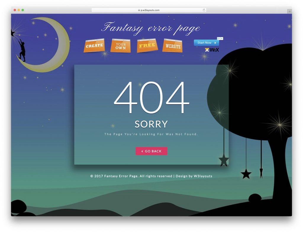 Fantasy Error Page