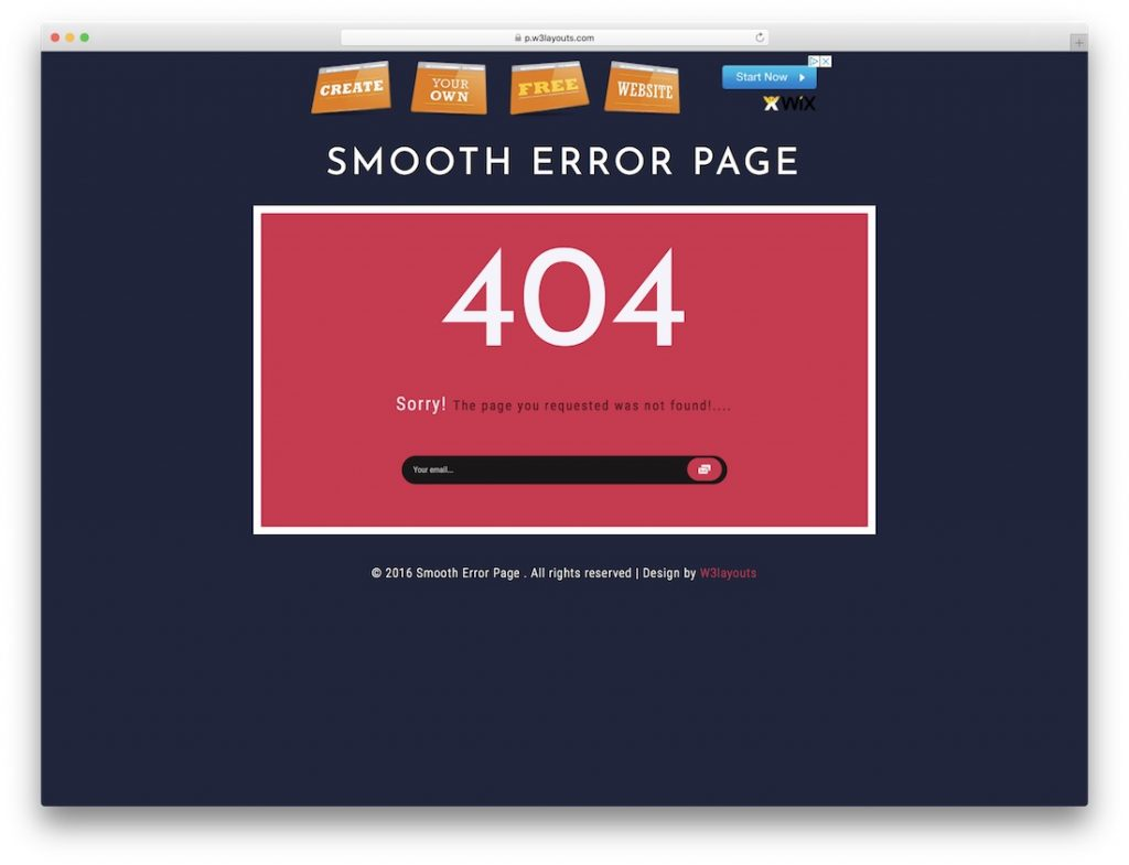 Smooth Error Page