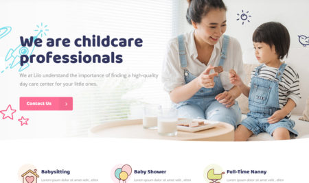 15+ Child Care WordPress Themes