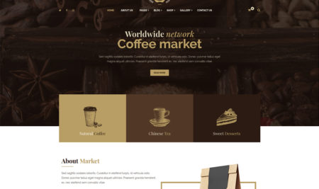 10 Coffee and Tea Shop WordPress Themes